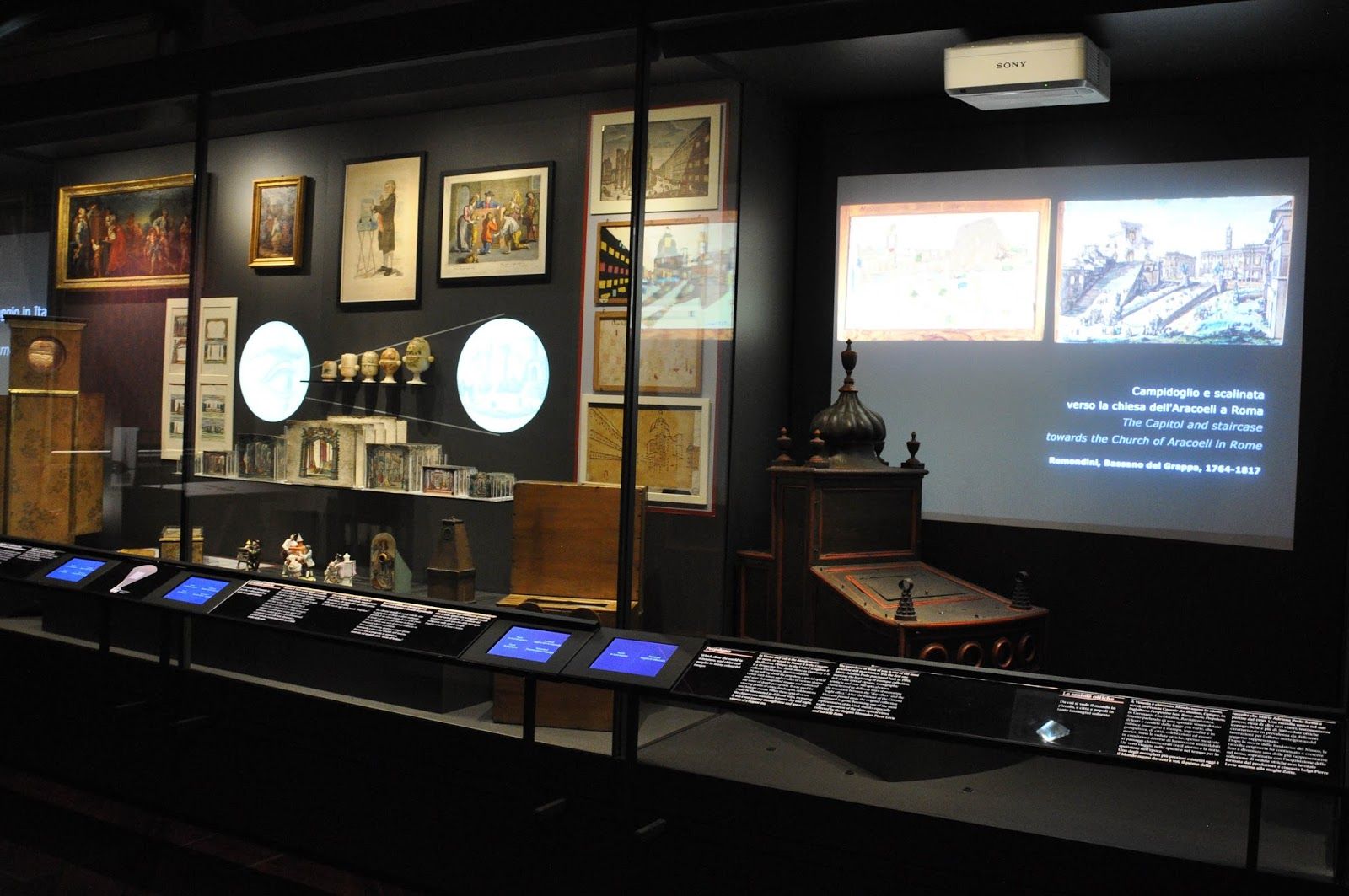 Inside the National Museum of the Cinema, Mole Antonelliana, Turin, Italy