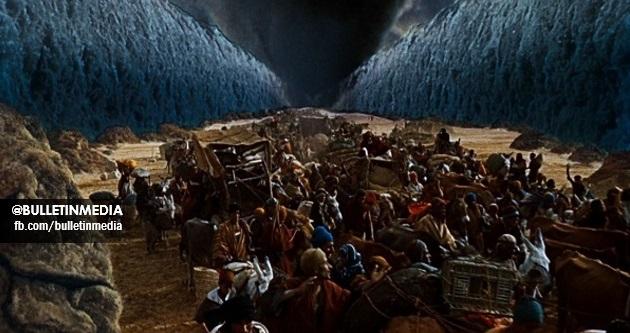 MOHON SEBARKAN! Gambar Bukti Bahawa Nabi Musa Pernah MEMBELAH Laut. Subhanallah!