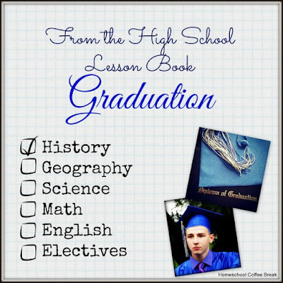 From the High School Lesson Book - Graduation on Homeschool Coffee Break @ kympossibleblog.blogspot.com - What our group's commencement exercises are like, and a little history about some grad traditions