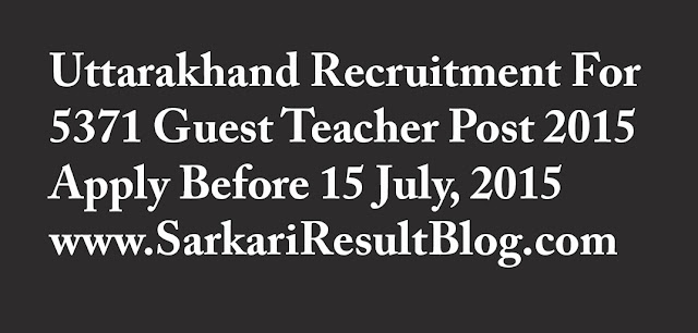 Uttarakhand Teacher Recruitment