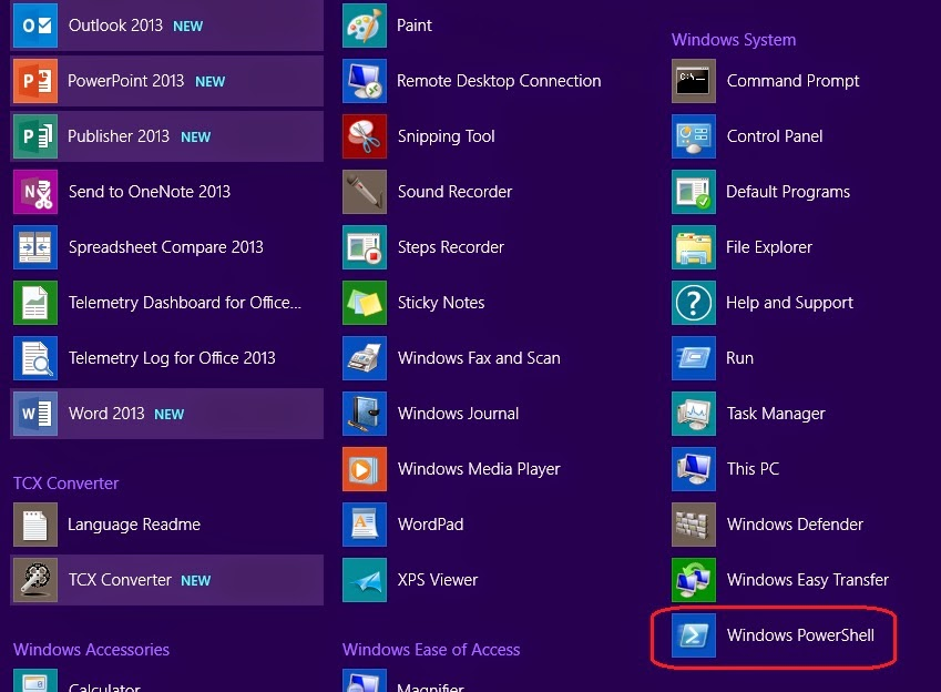 Happy SysAdm: How to open the Powershell ISE in Windows 8 1