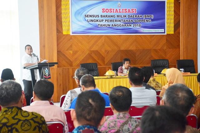 Melalui Sosialisasi, Pemkab Soppeng Petakan Barang Milik Daerah