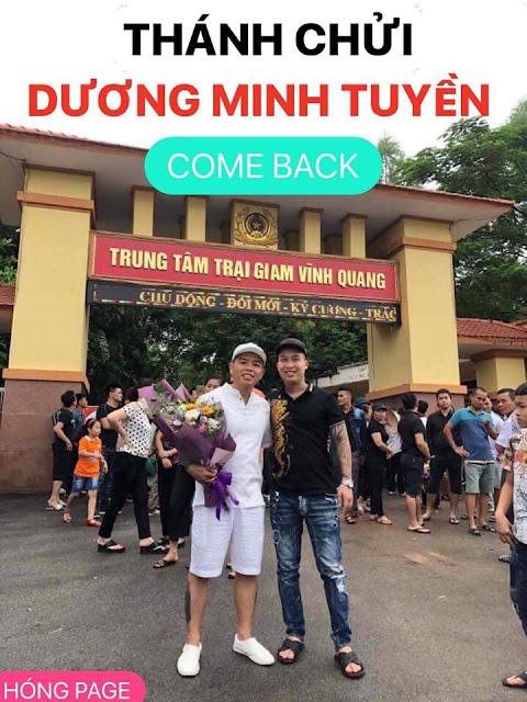 Dương Minh Tuyền chụp trong ngày ra tù