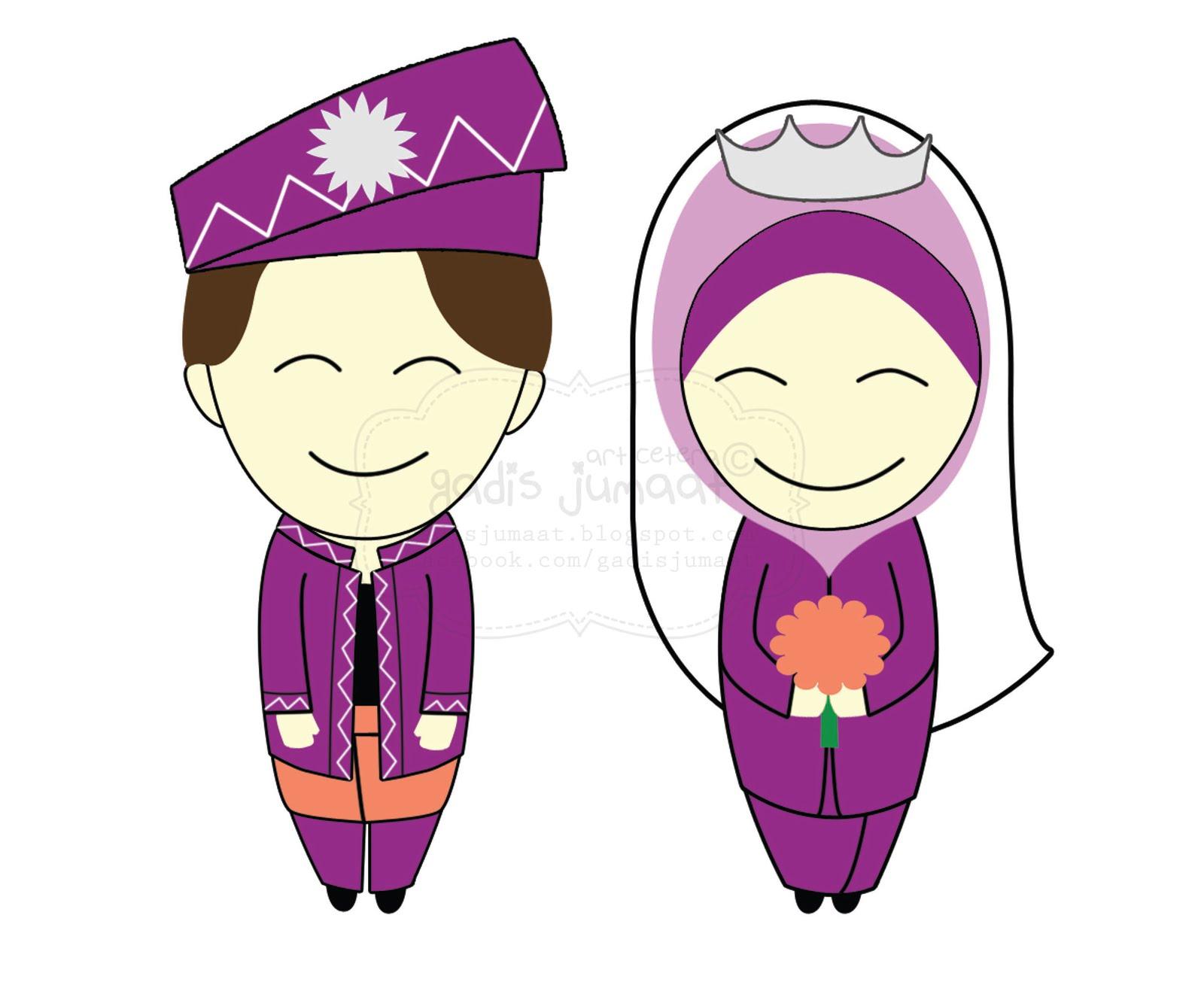 Gambar Kartun Muslimah Kahwin Gambar Kartun