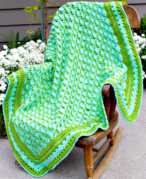 Frog Pond Baby Blanket - Free Pattern