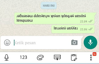 Cara Membuat Tulisan Terbalik di Whatsapp, Ini Triknya