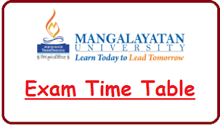 Mangalayatan University Exam Date Sheet 2020