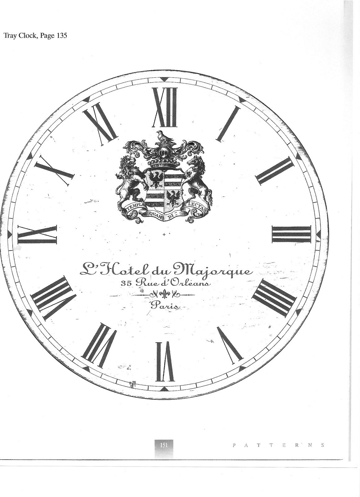 LittleMissMaggie: French Clock Face