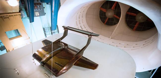 ekranoplano en tunel