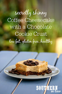 Healthy Baked Coffee Cheesecake Recipe with Brownie Crust