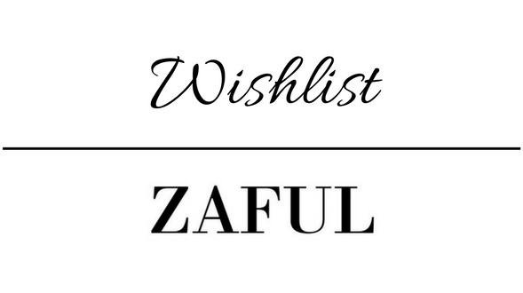 Wishlist com itens da loja ZAFUL