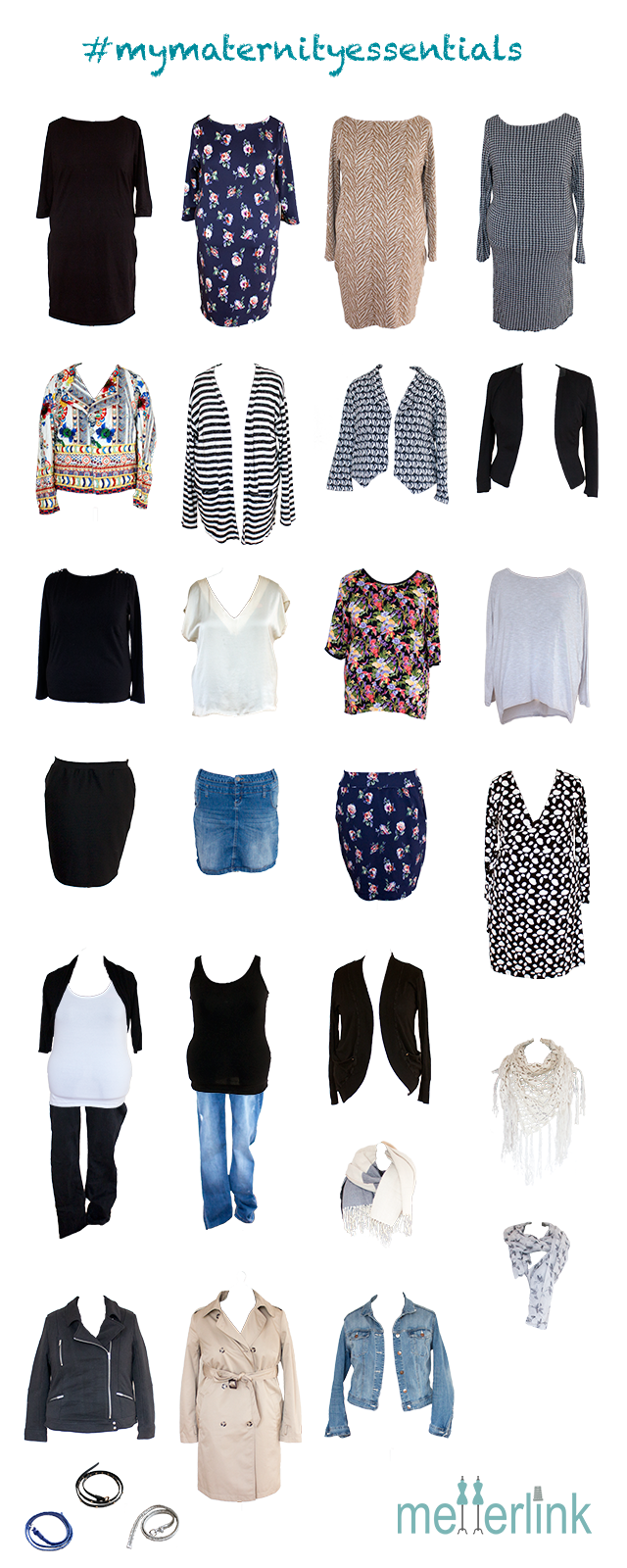 Übersicht, mymaternityessentials, Schwangerschaft, selber nähen, Kleiderschrank, metterlink, fallessentials, Capsule wardrobe
