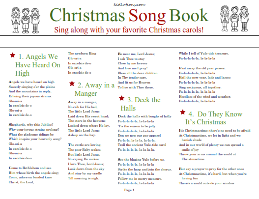 photograph regarding Christmas Caroling Songbook Printable identify Xmas Carol Sing-Together SongBook
