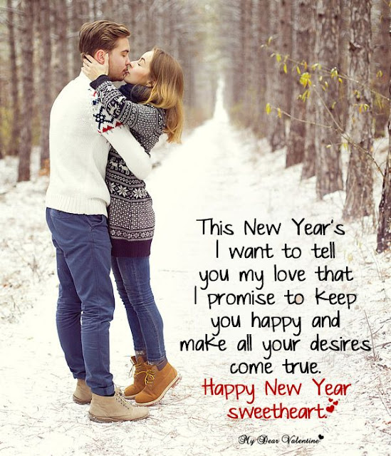 Romantic couple for happy new year