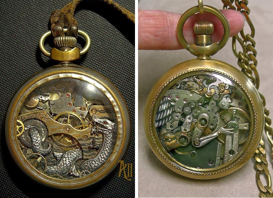 simply creative steampunk watch part sculptures by sue beatrice