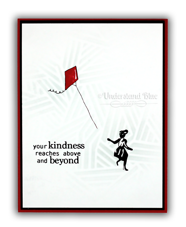 Banksy Inspired Kite Card with My Monthly Hero Kit by Understand Blue