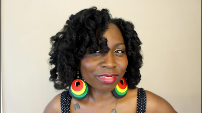 BOUNCY CURLS on NATURAL HAIR Type 4 Coily Hair with JUMBO Perm Rods DiscoveringNatural