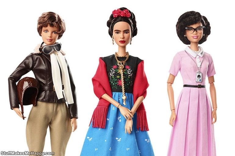 "Artificial Dolls or Famous People: Barbie"" Created A Series of Dolls, Dedicated To Famous Women of the Past and Present"