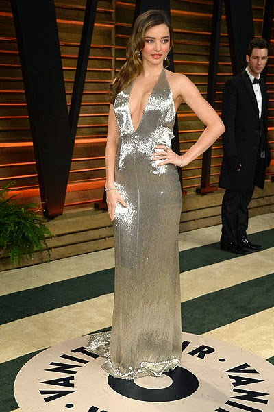 Miranda Kerr at the Vanity Fair party faced Orlando Bloom