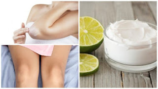 Éclaircir les coudes et les genoux crème fait maison lait et vitamine E
