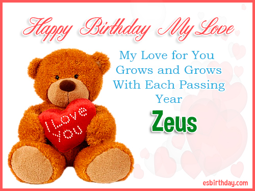 Zeus Happy Birthday My Love
