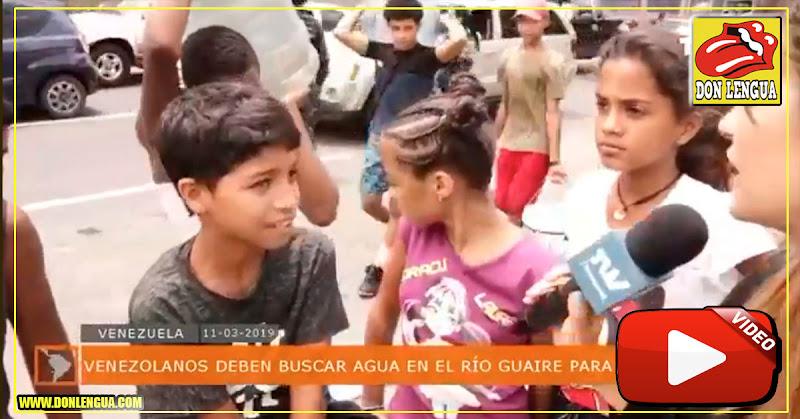 Érika Farías dijo que es falso que el pueblo haya ido a buscar agua en el Guaire