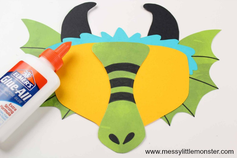 Chinese Dragon Mask. Printable Chinese New Year activity for kids.