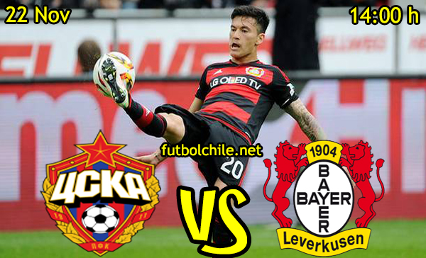 Ver stream hd youtube facebook movil android ios iphone table ipad windows mac linux resultado en vivo, online: CSKA Moscú vs Bayer Leverkusen
