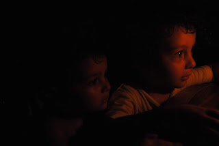 children, candle, portrait