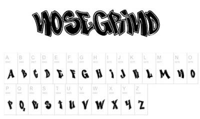Nose Grind Free Font Graffiti