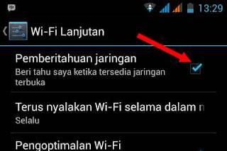 pemberitahuan jaringan wifi