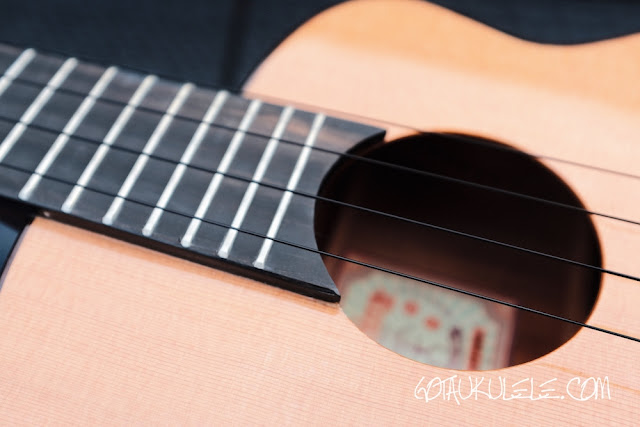 aNueNue Light Bird Tenor Ukulele sound hole