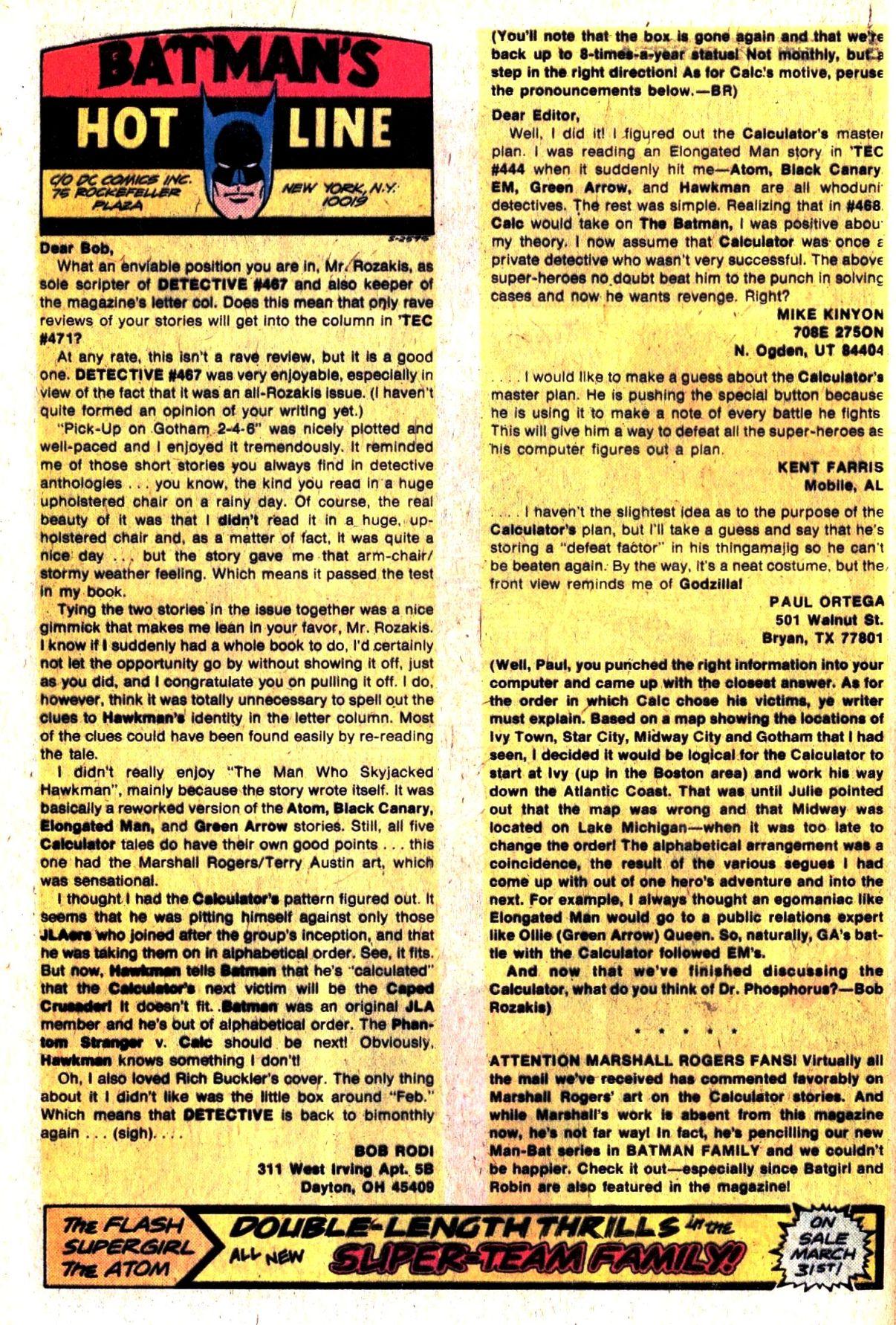 Detective Comics (1937) 470 Page 31