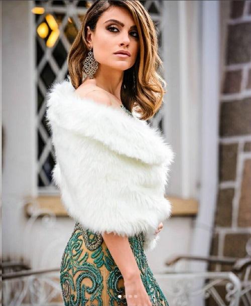 vestido de festa inverno estola