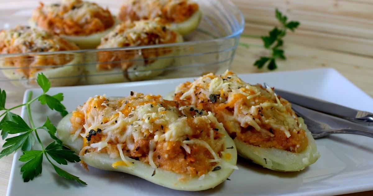 Julia y sus recetas patatas rellenas de at n for Cocinar patatas rellenas