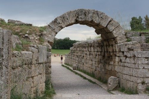 The Krypte, official entrance to the stadium of ancient Olympia. Photo Mark Cartwright