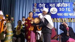 Bimal Gurung in Maha Adhivesan of Mangar Sangh Bharat Darjeeling