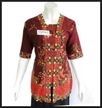 42 Desain Model Baju Batik Wanita Atasan Modern Terbaru 2017