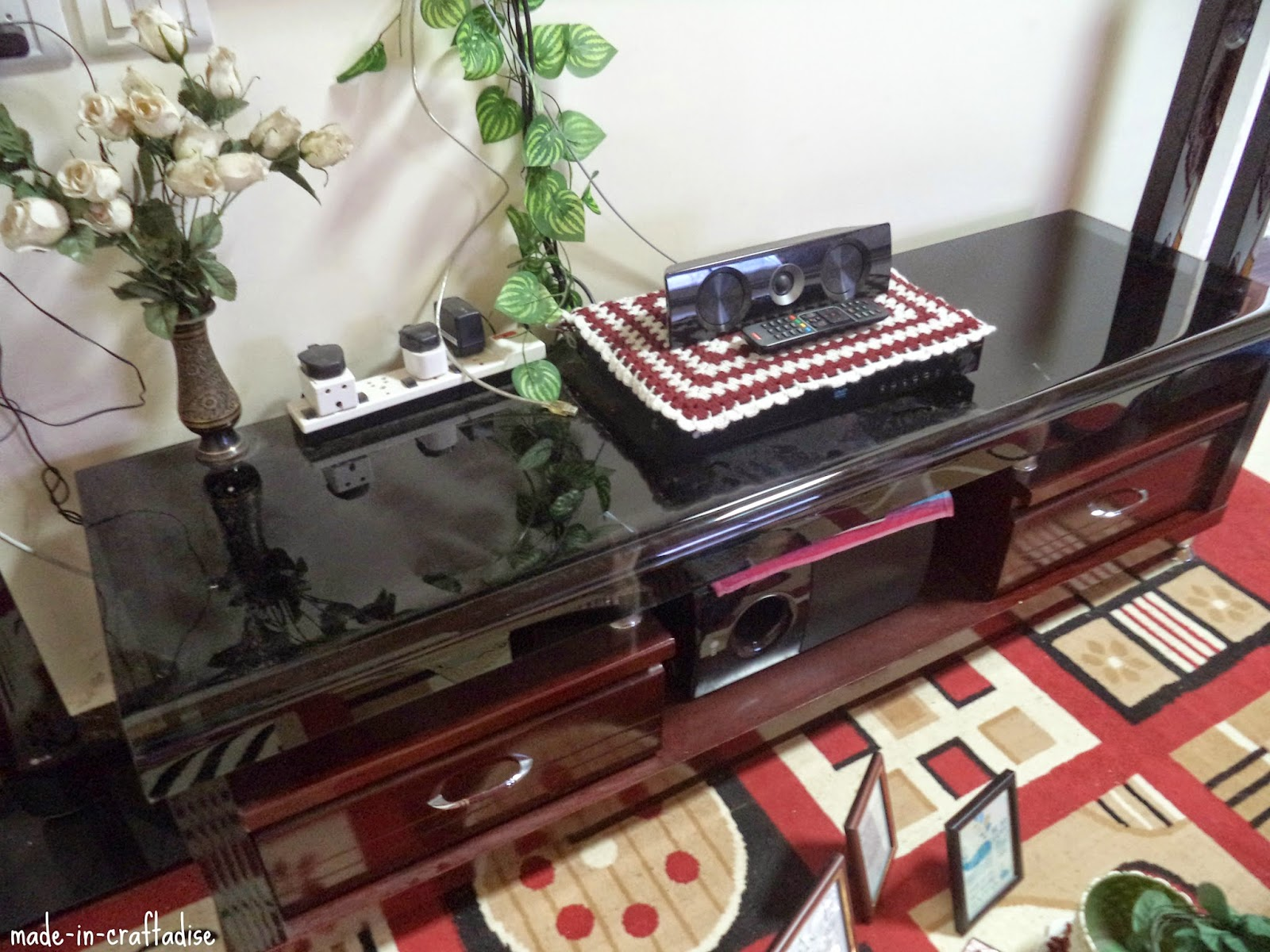 Quick Cleaning - TV Stand and its area !!!