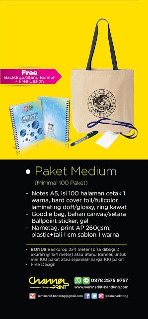 Paket Seminarkit Medium murah dan berkualitas hanya di seminarkitbandung.com hub. 0878-2575-9757