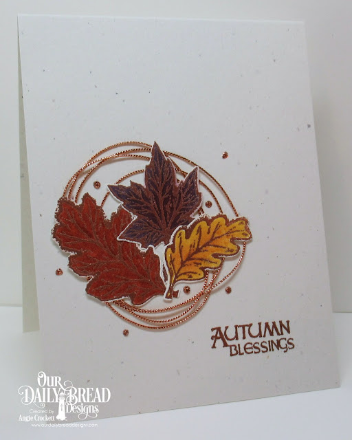 ODBD Autumn Blessings, ODBD Custom Leaves and Acorn Dies, Card Designer Angie Crockett