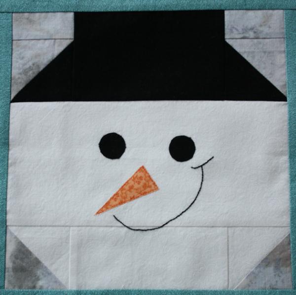 Portrait of a Snowman | DevotedQuilter.blogspot.com