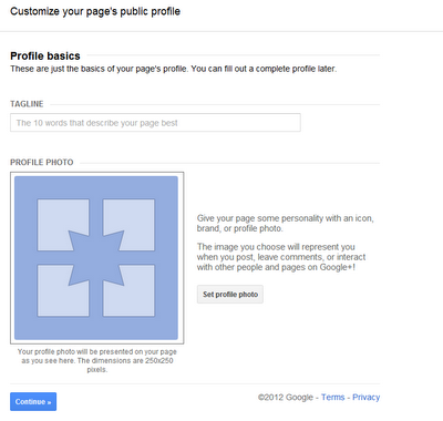 Customize your page's public profile