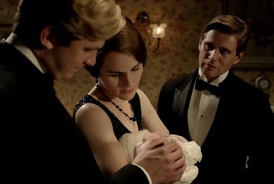 What episode of downton abbey do sybil and branson kiss - Tv