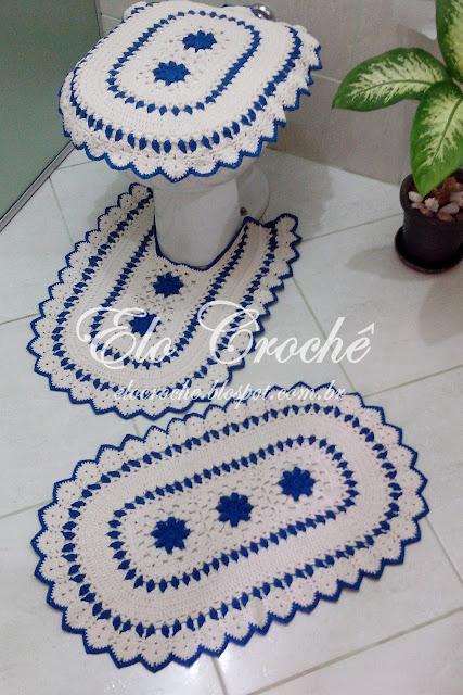 Jogo Banheiro Azul Croche : Elo croch? by eloiza castro jogo de banheiro em croch?