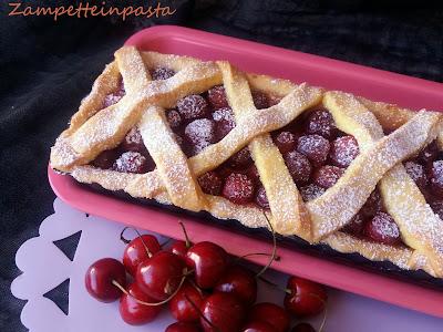 Crostata con ciliegie fresche (senza burro) - Dolci con le ciliegie