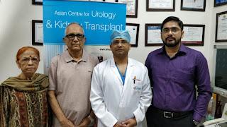 एशियन अस्पताल में हुआ दूरबीन द्धारा गदूद के कैंसर का पहला सफल ऑपरेशन