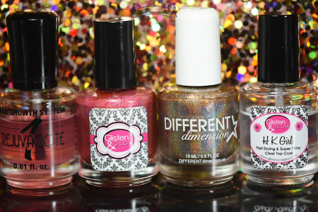 Duri Rejuvacote, Glisten & Glow Fire, Different Dimension Earth, Glisten & Glow HK Girl Fast Drying Top Coat