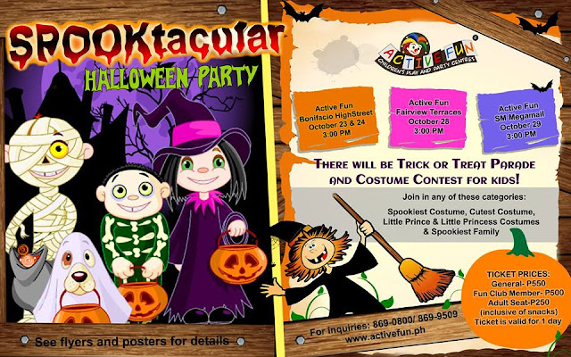 2015 List of Halloween Trick or Treat Events In Metro Manila