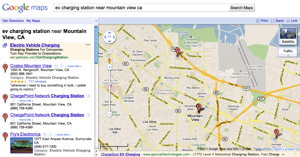 Google Lat Long Find electric vehicle charging stations on Google Maps